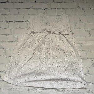 Asos White Broderie Mini Dress